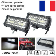 "2x 120W 7"" Cree Rampe LED Phares longue portée Barre de led 4x4 Offroad Tractor"