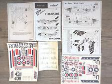 """F-86F/CL MK4 SABRE """"3 RCAF/THAI/USAF SKYBLAZERS"""" AERODECAL 1/32"""