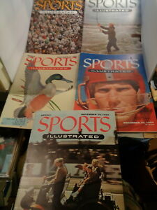 SPORTS ILLUSTRATED - NOVEMBER 1954 (5) ORIGINAL ISSUE - Y.A. TITTLE, WILLIE MAYS