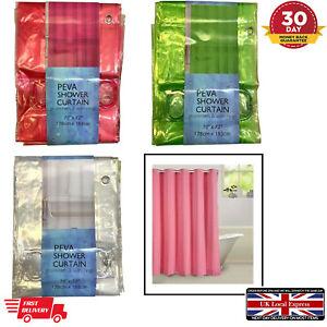 PEVA Bathroom Shower Curtain Grommets 12 Rings 178cm x 183cm Plastic Extra Long