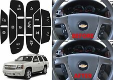 Replacement Steering Wheel Button Stickers For 2007-2014 Tahoe Suburban Yukon