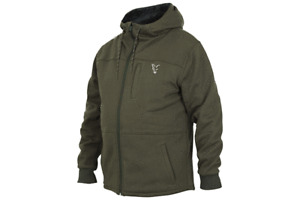 FOX NEW Collection Green & Silver SHERPA Hoody / Hoodie - All Sizes