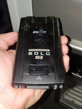 New listing Escort Solo S3 Cordless Radar Detector - Black works