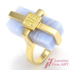 JETTE JOOP - Moderner Ring mit Chalcedon - 18K/750 Gelbgold - 11,3 g - Gr. 54