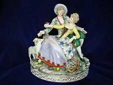 Antique,Royal Vienna Austria Figurine, Classical Couple with Sheep, Beehive Mark