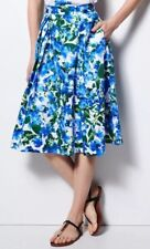 New MILLY for DesigNation Size: SMALL Blue Floral Pleated Midi SKIRT. Юбка