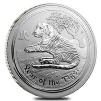 2010 1 Kilo Silver Lunar Year of The Tiger BU Australian Perth Mint In Cap