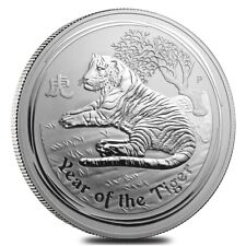 2010 1 Kilo Silver Lunar Year of The Tiger BU Australian Perth Mint In Cap
