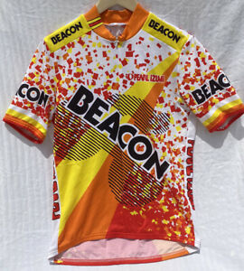 Pearl Izumi Beacon Cycling Jersey - XL, Full Zippered Front, 3 Pocket Lower Back