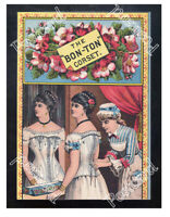 Historic Bon-Ton' corset,  The Worcester Corset Co. 1875 Advertising Postcard