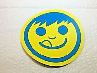 "NEFF, SKATEBOARD, SNOWBOARD, Cool, Sticker, LARGE 4"", Yellow & Blue"