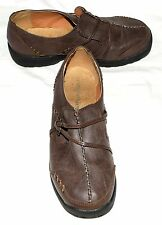 Comfortview Brown Pebbled Faux Leather Womens Slip On Shoes Sz 7.5 WW
