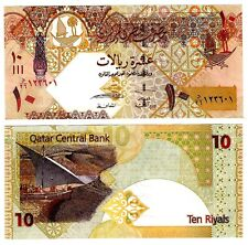 Qatar 10 Riyals Uncirculated Note 2008