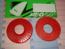 paire disques anti cloques x poignée moto cross rouge Ufo Yamaha Ktm Suzuki