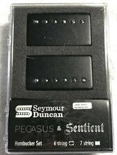 Seymour Duncan Pegasus & Sentient 6 String Powdercoat Matte Black Covers Set