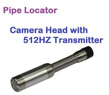 Sewer Drain Pipe Locator - Stainless Steel Camera Head w 512HZ Sonda Transmitter