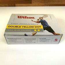 Wilson Premium Staff Single Yellow Dot Squash Balls 12 Pack - WSF Approved