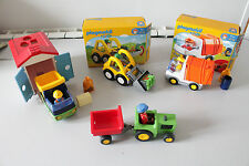 PLAYMOBIL 123  6775 tractopelle +6774 camion + garage +tracteur