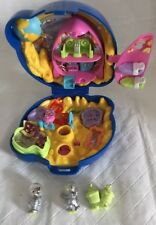 Vintage Polly Pocket MINNIE MOUSE & DAISY OUTER SPACE Case COMPLETE 1996 HTF