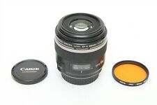 Canon EF-S 60mm f/2.8 Macro USM Lens EXCELLENT +BONUS FILTER - EOS DIGITAL 100mm