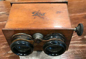 ANTIQUE ICA STEREO VIEWER FOR 6X13-CM GLASS SLIDES. GERMANY, CIRCA 1910