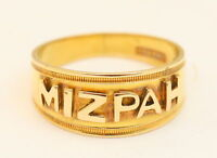 18ct Yellow Gold Antique Mizpah Signet Ring 1901 Victorian Ring Size N