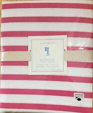 2 PC Pottery Barn Kids BRETON STRIPE Full/Queen Duvet Cover & Sham NEW PINK