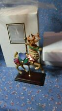 Avon Carousel Animal Collection Reindeer  5 3/4 Inch High w/ Box