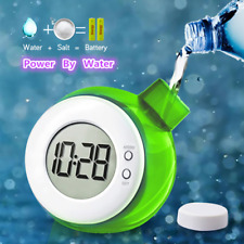 Water Powered Desk Clock Table Clock with Calendar Element Mute for Kid