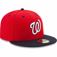 New Era 5959 WASHINGTON NATIONALS Alternate 2 Hat MLB Baseball Fitted Cap Red