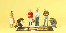 HO Preiser 10549 Street Artists / Painters and Onlooker Figures