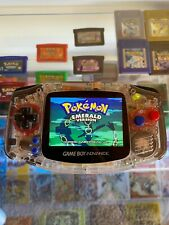 Nintendo Game Boy Advance polished clear shell, IPS screen, LiPo battery