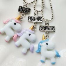 Fashion Best Friend Forever Bead Chain Friendship Unicorn Pendants Bff Necklace