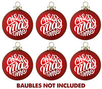 6 X CHRISTMAS TIME DECALS - FOR WINE GLASS WINDOW BAUBLE VINYL STICKER