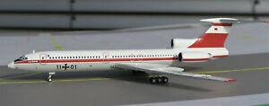 Luftwaffe Flugbereitschaft Tupolev TU-154M 11+01 Herpa-Modell 1:200, limitiert
