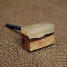 Natural Wood & Silicone Drawer Pull Door Handle   Geometric Block Cabinet Knob