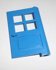 Lego (3861) puerta principal 1x4x5, en azul de 6375 10041 6379 6349 6390