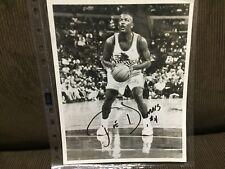"""JOE DUMARS DETROIT PISTONS AUTOGRAPH PICTURE BLACK/WHITE NBA 8X10"""" AUTHENTIC"""