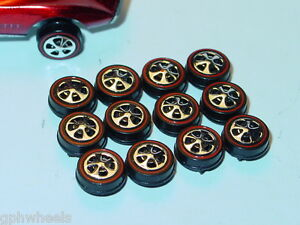 Hot Wheels Redline Red Line HK WHEEL TIRE Lot of 12 SMALL Bearing Style -NEW!