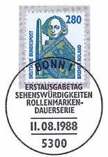 BRD 1988: Bremer Roland! SWK Nr. 1381 mit Bonner Ersttags-Sonderstempel! 1A! 159