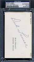 Dick Turk Farrell Psa/dna Certed Signed 3x5 Index Card Autograph Authentic