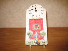 *NEW* Horloge en grès décoré 23x11cm