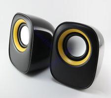 USB Stereo Speaker For Laptop Desktop Computer MP3 Cell Music Player Black