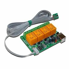 PC USB Four(4) Relay Board with temperature sensor TCN75A for Home Automation