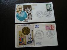 FRANCE - 2 enveloppes 1er jour 1971 1977 (cy13) french