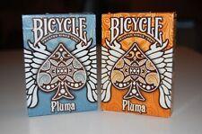 Set of 2 Bicycle Pluma Orange & Blue Decks Playing Cards Uspcc Rare New
