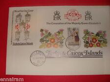 Queen Elizabeth II Silver Jubilee FDC 25 Coronation Turks Caicos Islands 1978 #4