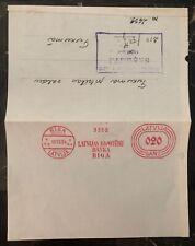 1934 Riga Latvia Bank Letter cover Meter Cancel