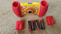 FISHER PRICE. KID SAFE DIGITAL WORKING CAMERA. RED yellow educational NO CABLE