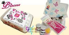Princess Glitter Temporary Tattoo Kit - ideal gift!
